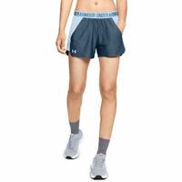 Under Armour UA HeatGear Blue Gym Sports Play Up 2.0 Blue Ladies Running Shorts
