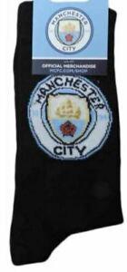 Kids Manchester City FC Socks Sizes UK 12.5-3.5 & 4-6.5 Official Licensed Black