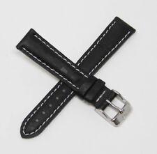 Authentic TechnoMarine 13MM Nylon Watch Band Strap Black w/ White Back - 7859
