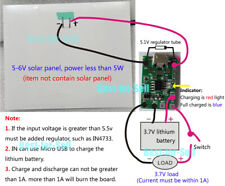 Solar Panel Controller 1A USB 3.7V 4.2V Lithium Battery Charge Discharge Board