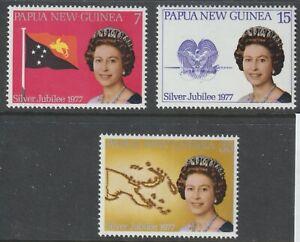 Papua New Guinea 1977 #462-64 QE II Silver Jubilee - MNH