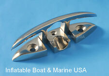 """Boat Flip Up Folding Pull Up Cleat - 6""""  316 Marine Stainless Steel"""
