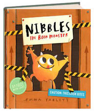 Nibbles the Book Monster by  Emma Yarlett nibbled pages in fairy tales hardcover