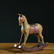 Retro Vintage Rocking Horse Home Decoration Table Ornament Resin High Quality
