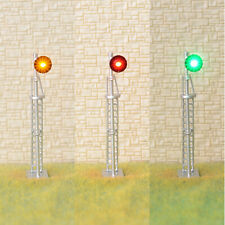 1 x HO scale searchlight block signal model train 3 color SMD LED R/Y/G #87S3