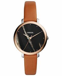 Fossil Jacqueline Womens Brown Leather Black Dial Quartz Watch - ES4378