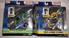 Playmates VOLTRON Green & Yellow Lion Figures Legendary Metal Defender Netflix