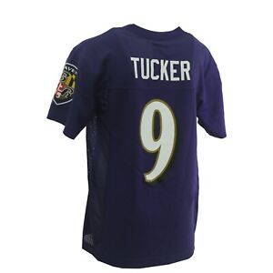 Baltimore Ravens Justin Tucker Official NFL Apparel Youth Kids Size Jersey New