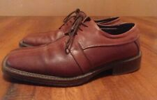 Venturini Brown Italian Leather Lace Up Oxfords Mens Size 9 M
