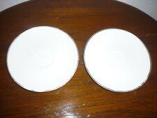 Arzberg 2 Untertassen für Tee Echt Platin Form 2000 (50er/60er) 15 cm Platinrand