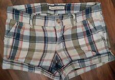 Abercrombie Fitch juniors Size 00 Linen low rise Shorts plaid