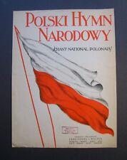 Polski Hymn Narodowy sheet music 1927 Polish National Anthem