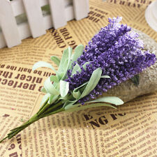 Fashion Lavender Flowers Silk Artificial Bouquet Wedding Home Party Decor Craft