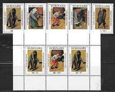 SURINAME 1971 CHILDREN'S GAMES MINI SHEET SC # B177-B181, B179A MNH