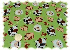 Funny Farm grün Feincord Babycord Bauernhoftiere 50 cm Kinderstoff Tiere