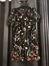 afb08a583c80 Brand New with tags Pretty Little Thing Dress - Black embroidered mesh.  Size 10.
