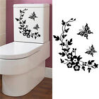 Butterfly Flower Bathroom Toilet Laptop Wall Decals Sticker Home Decoration Xnlm