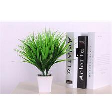 1X Artificiel Faux Plastique Vert Plante L'herbe Fleur Bureau Chambre Décor Neuf