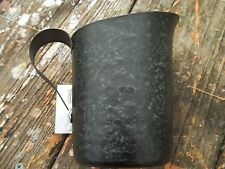 PRIMITIVE Rustic Country Galvanized Measuring Cup Pitcher Hammered Metal NEW