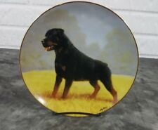 Danbury Mint Rottweiler Collector Plate Noble Companion By John Silver