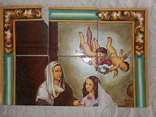 SAINTE ANNE ET MARIE/AZULEJOS PINTADOS A MANO/TRIANA SEVILLE/CERAMICA ANTIGUO