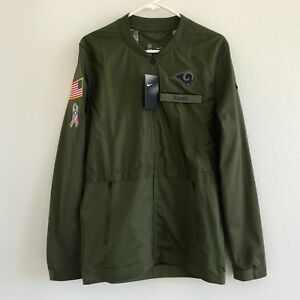 Nike NFL Rams Salute to Service Full Zip Jacket Olive Green AA9916-395 Mens Sz S
