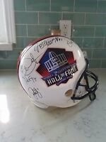 SIGNED X7 NFL HALL OF FAME HELMET JOHN ELWAY GALE SAYERS TAYLOR DICKERSON AUTO