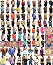 NEW 100 Wholesale Lot Tops Blouses Shirts Dress Jeans Women Juniors S M L