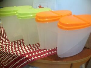 FOOD STORAGE CONTAINERS FOR CEREALS, FLOUR SUGAR ETC. 4 IN TOTAL