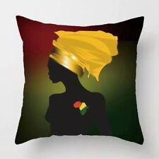 Throw pillows African queen throw pillow case africa black