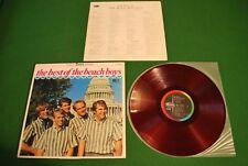 Beach Boys Best of Vol. 2 Japan LP 1st press von 1967 red vinyl Capitol CP-7550
