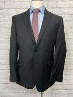 CALVIN KLEIN Men's Black 100% Wool Blazer Jacket Sport Coat 40R