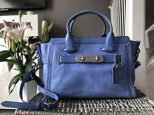 Coach Swagger blue pebbled Leather satchel bag, Shoulder Bag, cross body bag