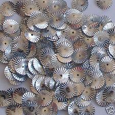 Sequins Sunburst / Starburst Paillette Silver 10mm ~100 pieces  Loose