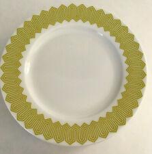 "JONATHAN ADLER Happy Chic Charlotte Green White 8"" salad plates lot of 6"