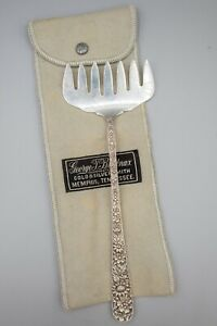"""S Kirk and Son Sterling Silver Repousse Bacon Serving Fork 7 5/8"""" L"""