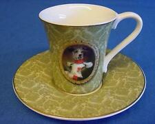 GOEBEL THIERRY PONCELET DOG IMPERIAL GUARD COFFEE OR MOCHA CUP & SAUCER 6R19