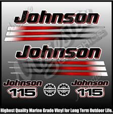 JOHNSON 115 hp - BOMBADIER - OUTBOARD DECALS