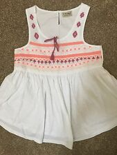 NEXT GIRLS WHITE EMBRODERIE TOP AGE 11