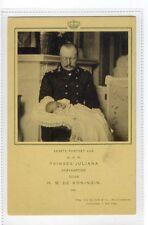(Sa071-182) Royalty Netherlands, Prinses Juliana H.M De Koningin c1900,unused,VG