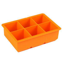 Silicone 6-Cavity Square Ice Cube Tray Ice Maker Mold Wiskey Square Ice Tray