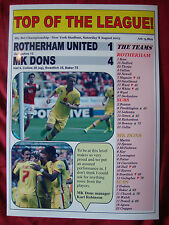 Rotherham United 1 MK Dons 4 - 2015 - souvenir print