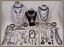 Vintage Boho jewelry Lot Claiborne Icing NY Coro 1928 MANY MORE SIGNED n497