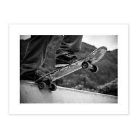 Skateboarder Halfpipe Drop Canvas Wall Art Print