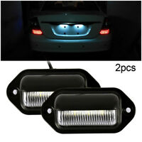 2pcs éclairage feux plaque immatriculation LED pour voiture véhicule remorque CP
