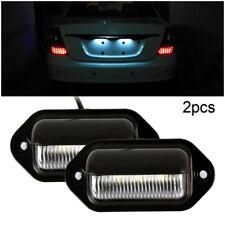 2pcs éclairage feux plaque immatriculation LED pour voiture véhicule remorque