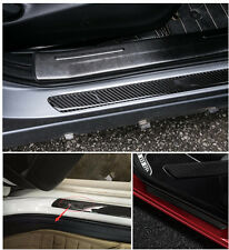 4pc 60CM+25CM 100% Real Carbon Fiber Front Rear Car Scuff Plate Door Sill Cover