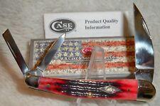 CASE XX Second Cut Crimson Jigged Bone Seahorse Whittler Pocket Knife ~ New