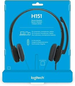 Logitech - H151 - 3.5 mm Analog Stereo Headset H151 with Boom Microphone - Black
