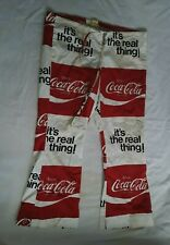 Vintage 1970's Coca-Cola Beach Pants, Hip Huggers, drawstring pants,With A Flair